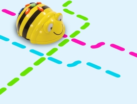 Bee-Bot robot on activity mat