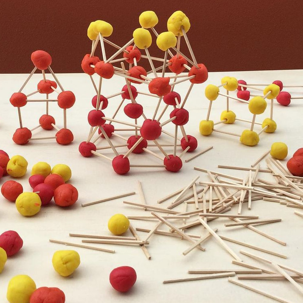 Match sticks grouped together to replicate a DNA