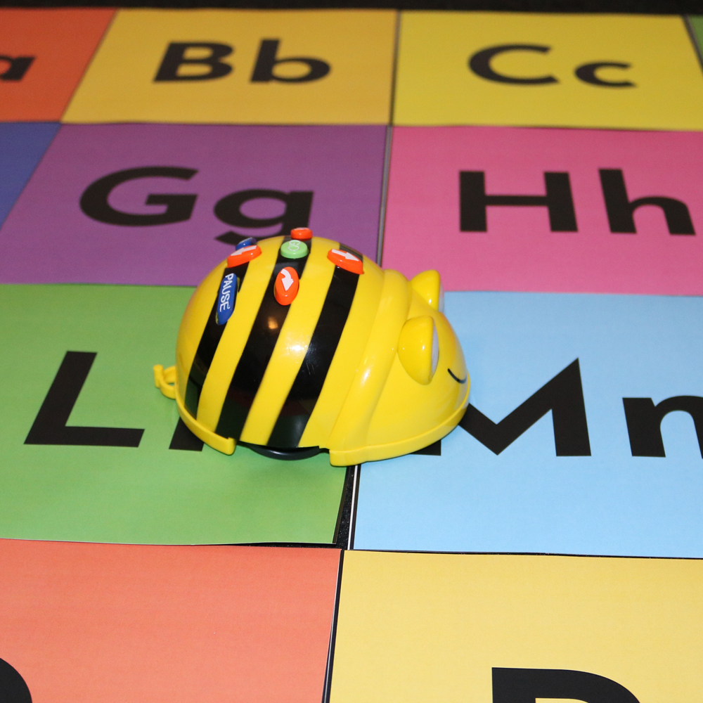 Letter recognition activity using Beebot and alphabet map