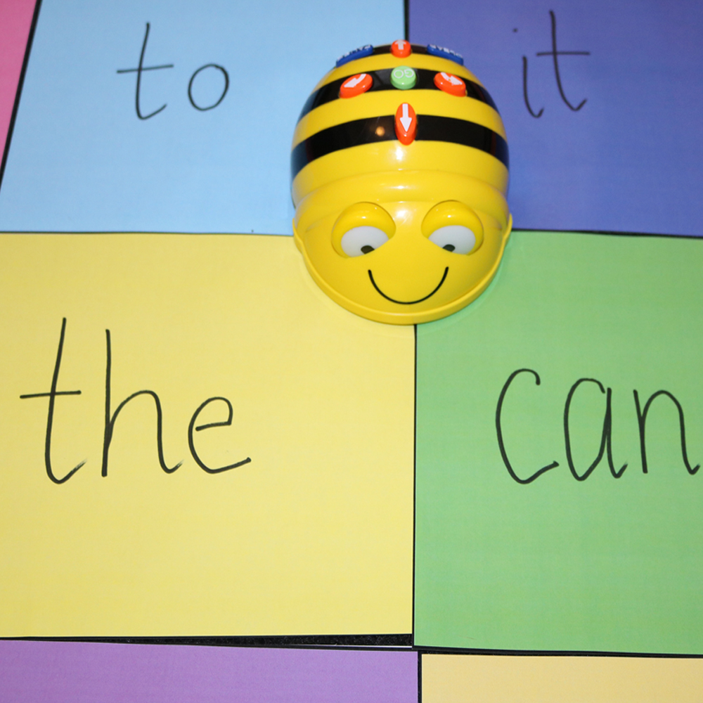 Creating own stories using Beebot and word map coloured titles