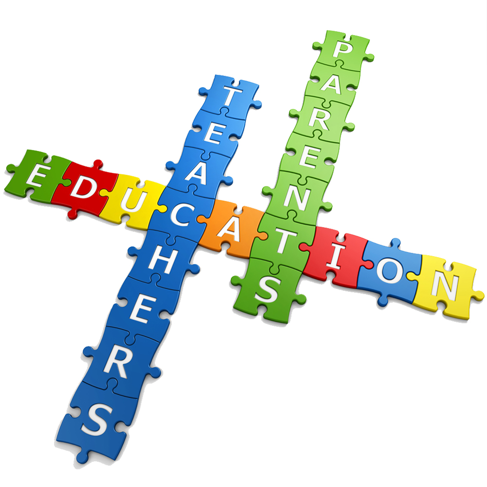 3 words in puzzle educcation teachers and parents
