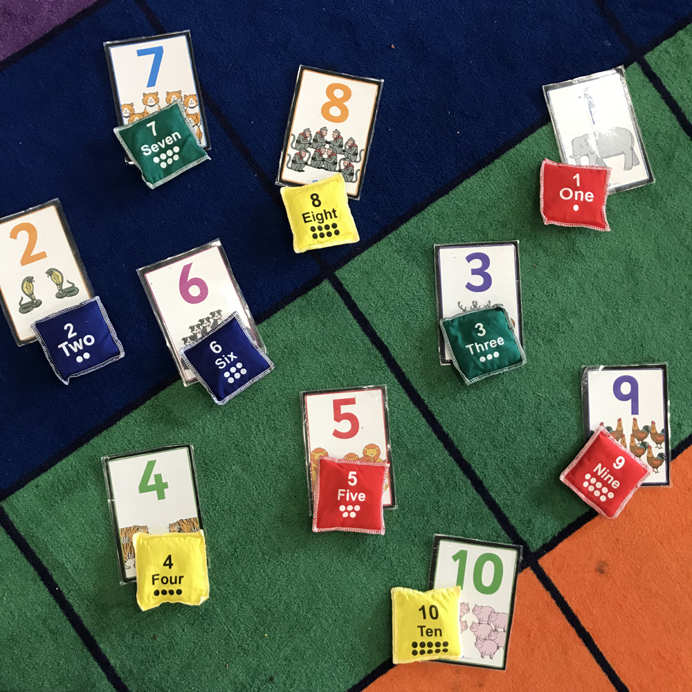 Numeracy Bean Bag Match Up Game