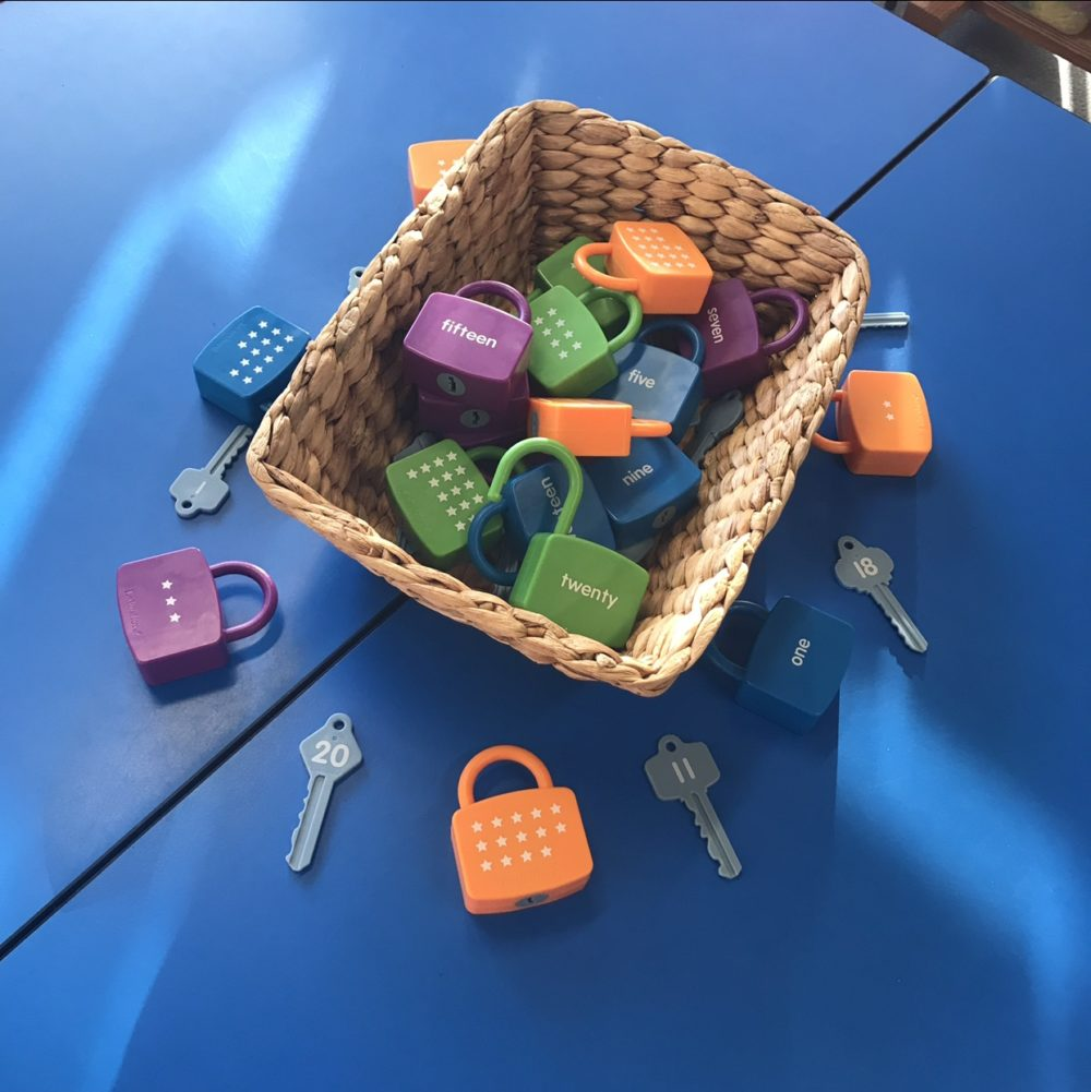 Numeracy Number Lock Match Up Game in Basket