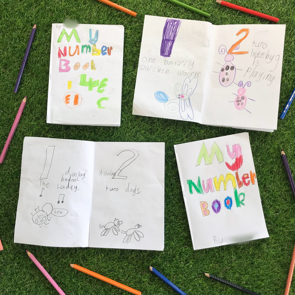 Kids drawing number book