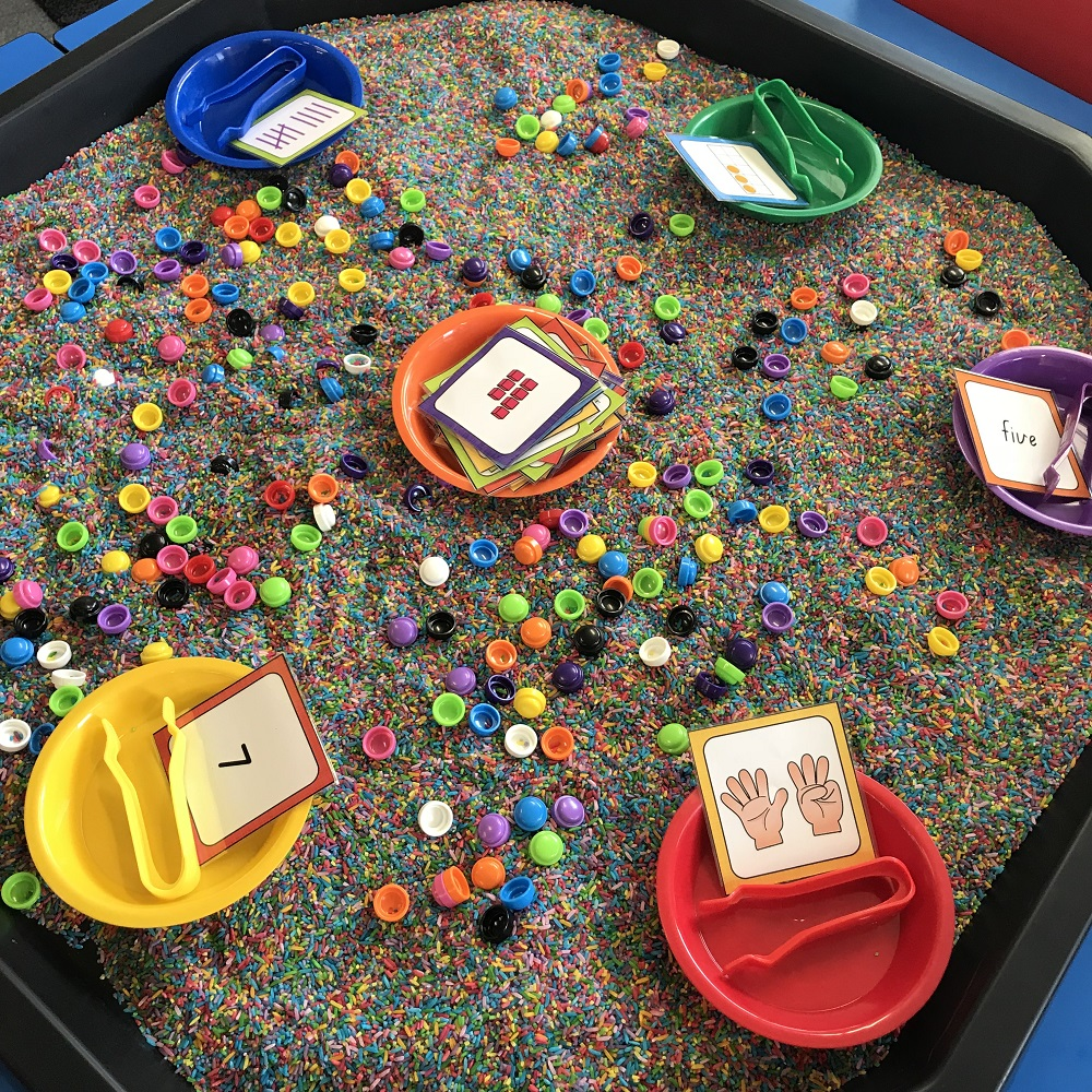 Numeracy Number Representation Game in Active World Tray