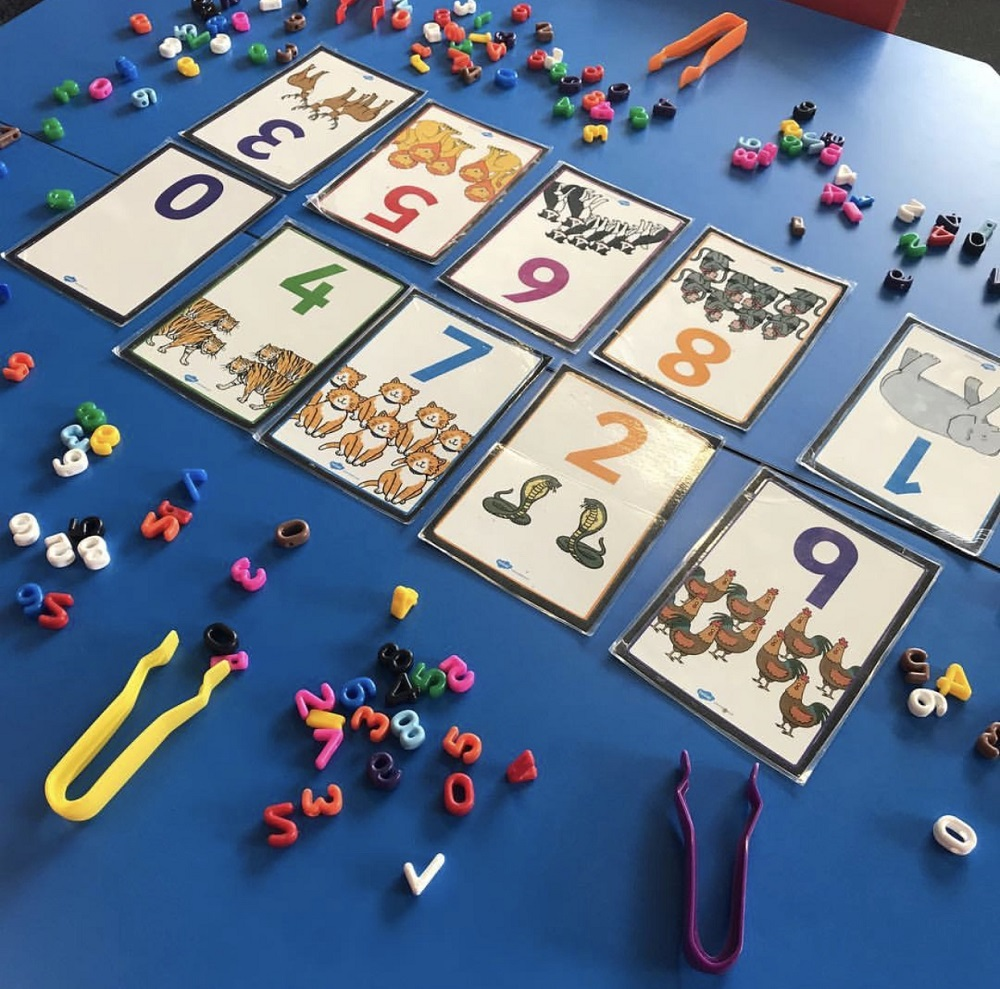 Numeracy Number Sort Game on desk
