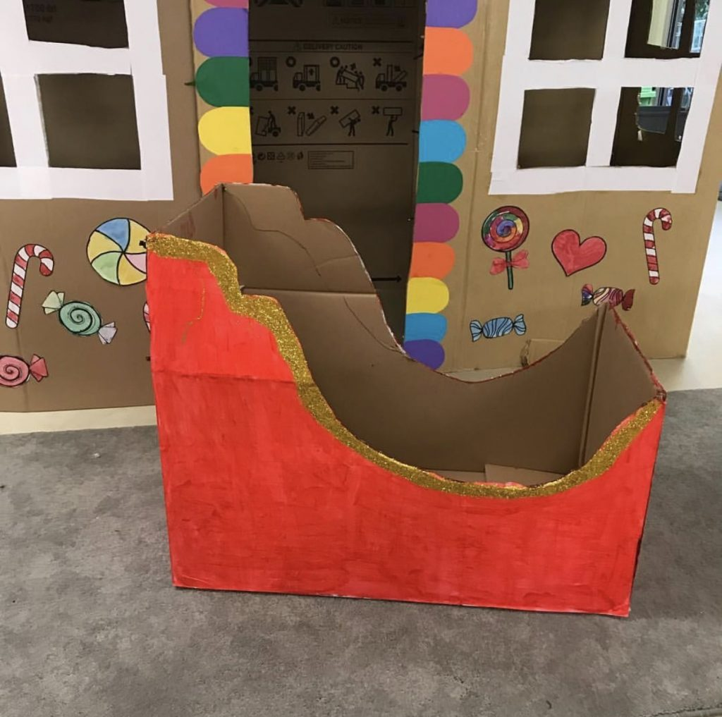 Christmas craft sleigh