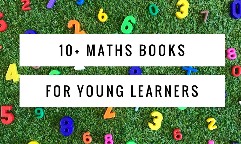 10 maths books for young learners title on grass with magnetic letters