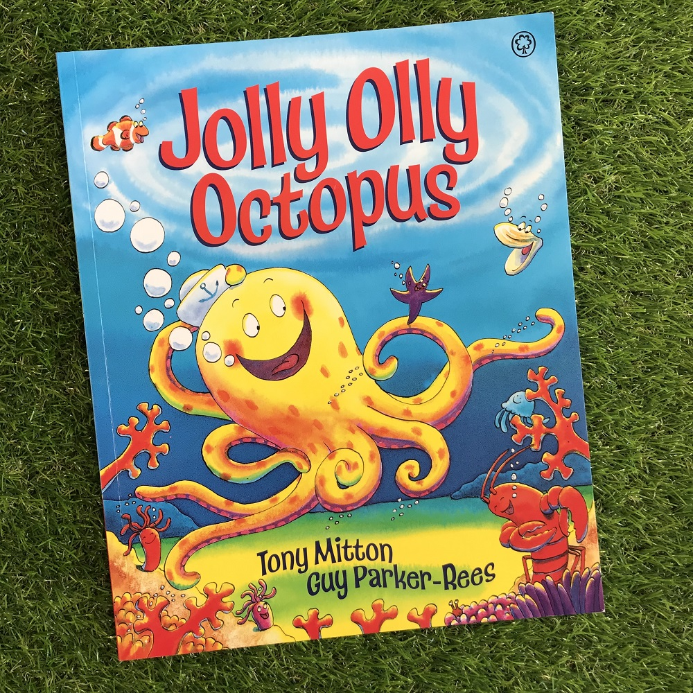 Jolly Olly Octopus book on grass