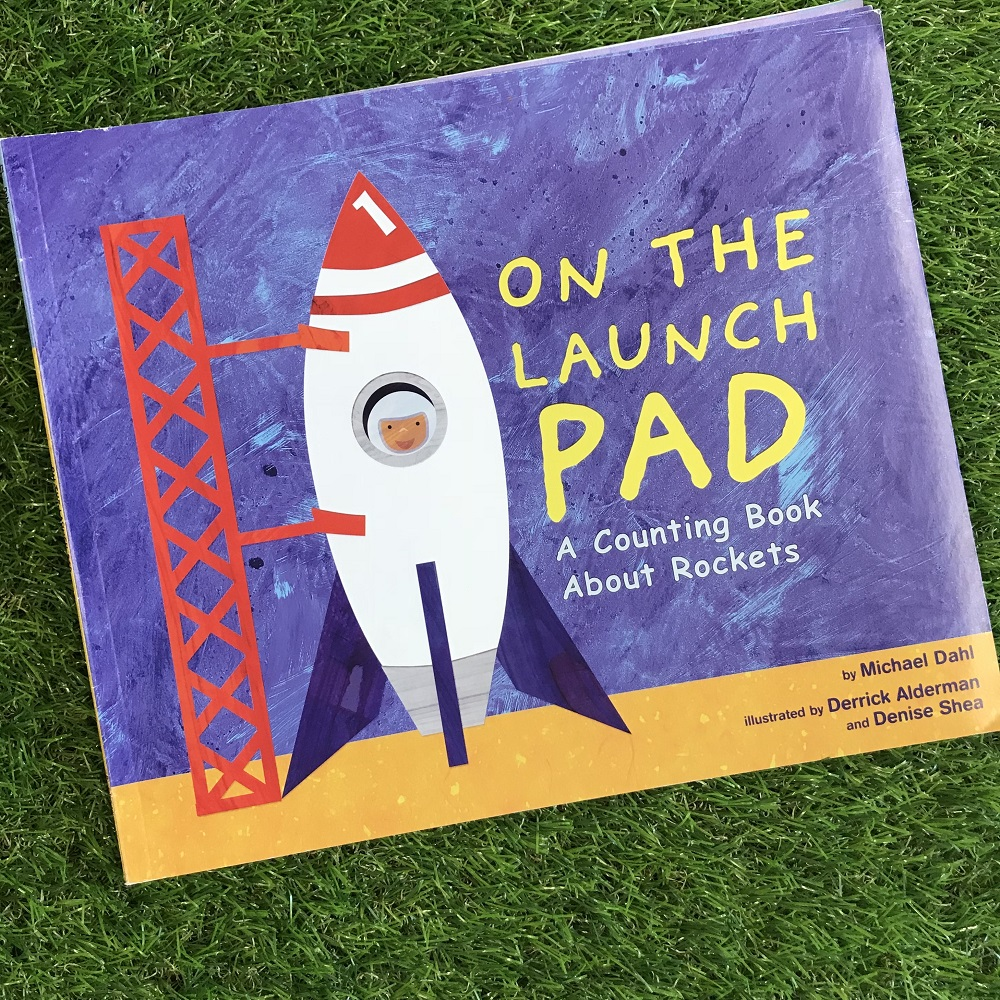 On The Launch Pad book on grass
