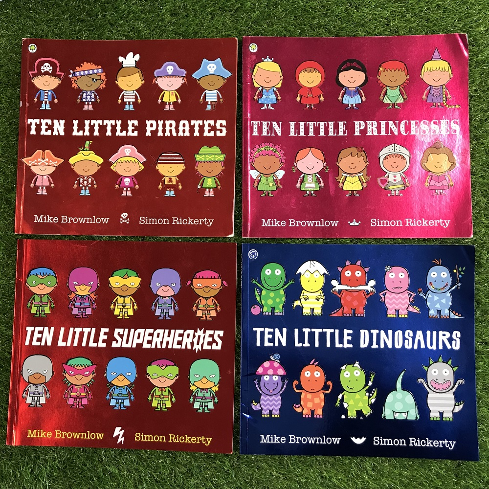 Ten Little Book Series on grass