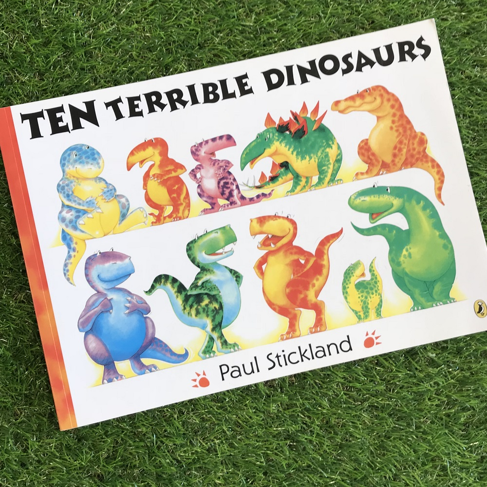 Ten Terrible Dinosaurs book on grass