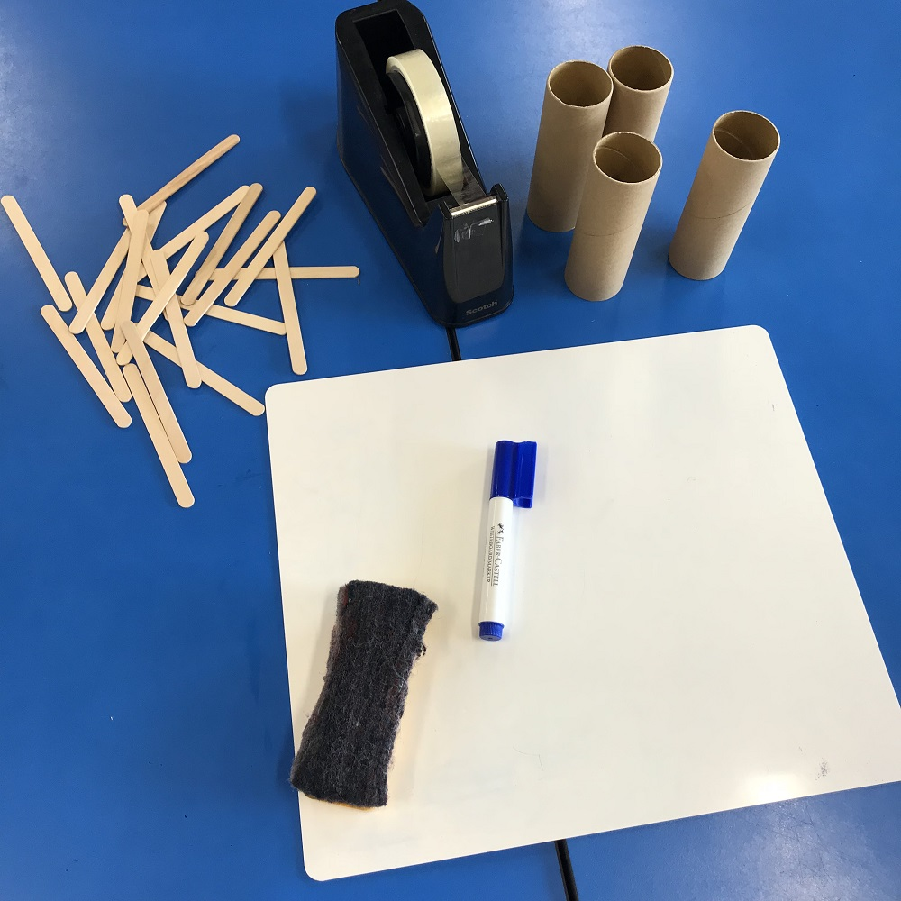 Materials used to produce the Three billy goats gruff setting