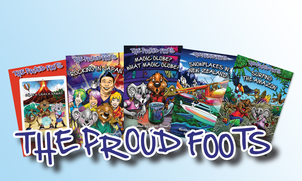 The proudfoot books fanned spread