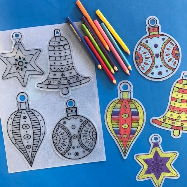 Christmas Colouring Decorations