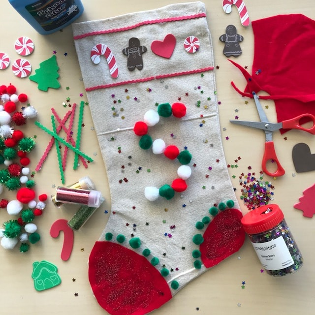 Christmas Stocking Art Craft Activity