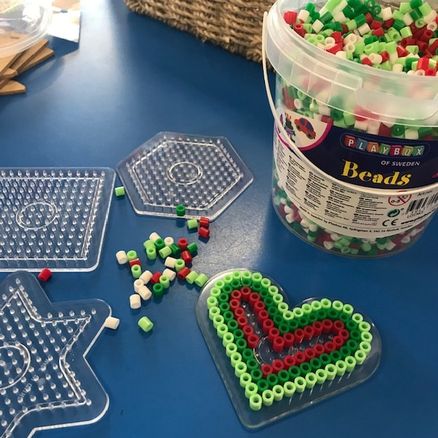 Iron Beads Bucket Heart Activity