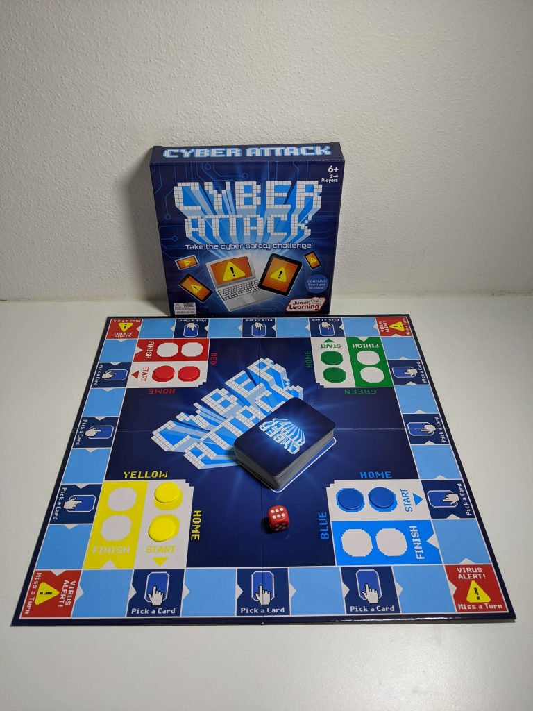 Cyber Attack game box and board on table