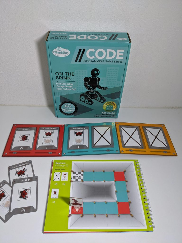 On the Brink Coding Game. Movement Cards spread out on table