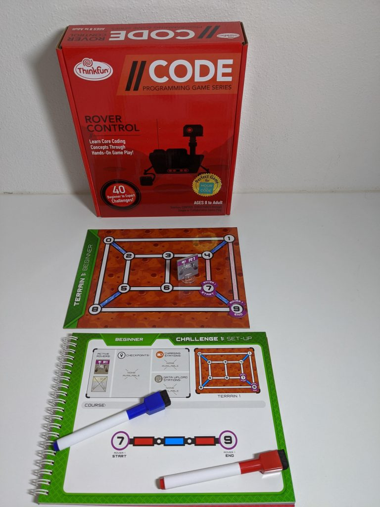 Rover Control Game on desk