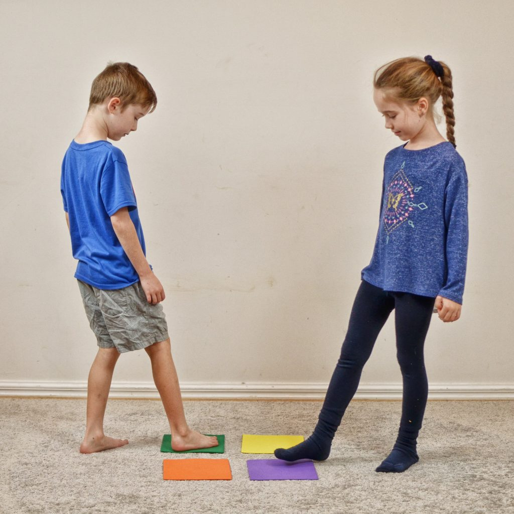 Staying Active at Home_girl and boy crossing midline