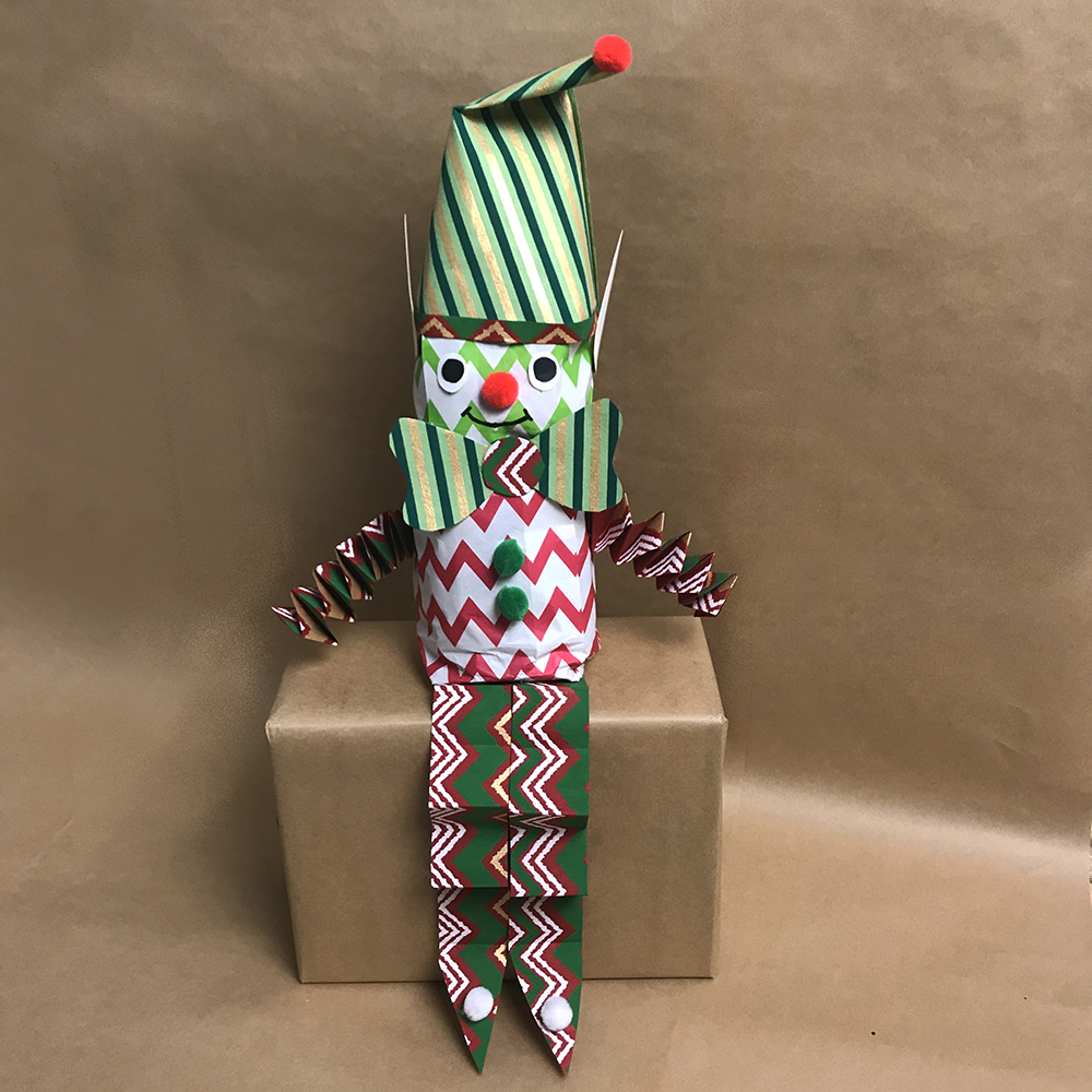 Christmas Craft Paper Bag Elf Activity