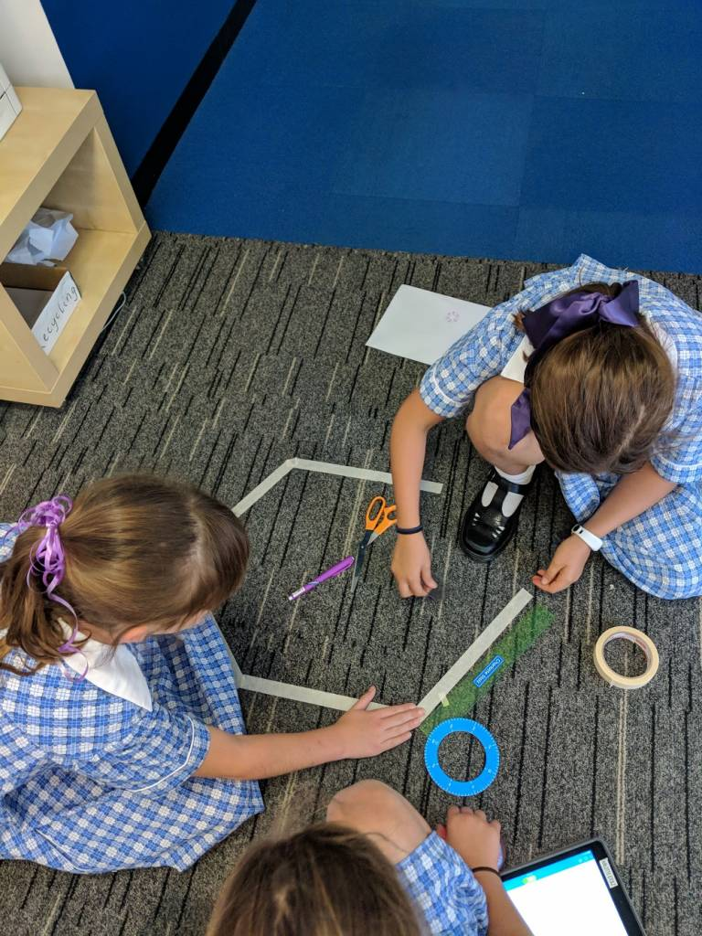 Sphero Angles and Shapes birds eye view