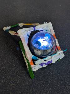Sphero Chariot activity. Sphero Robotic & Chariot 2 created out of art & craft materials