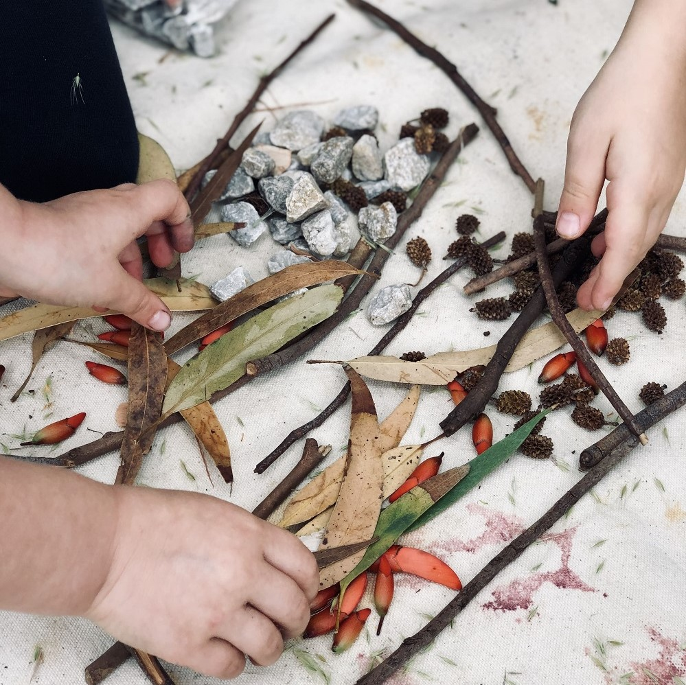 natural loose parts in children's hands Square
