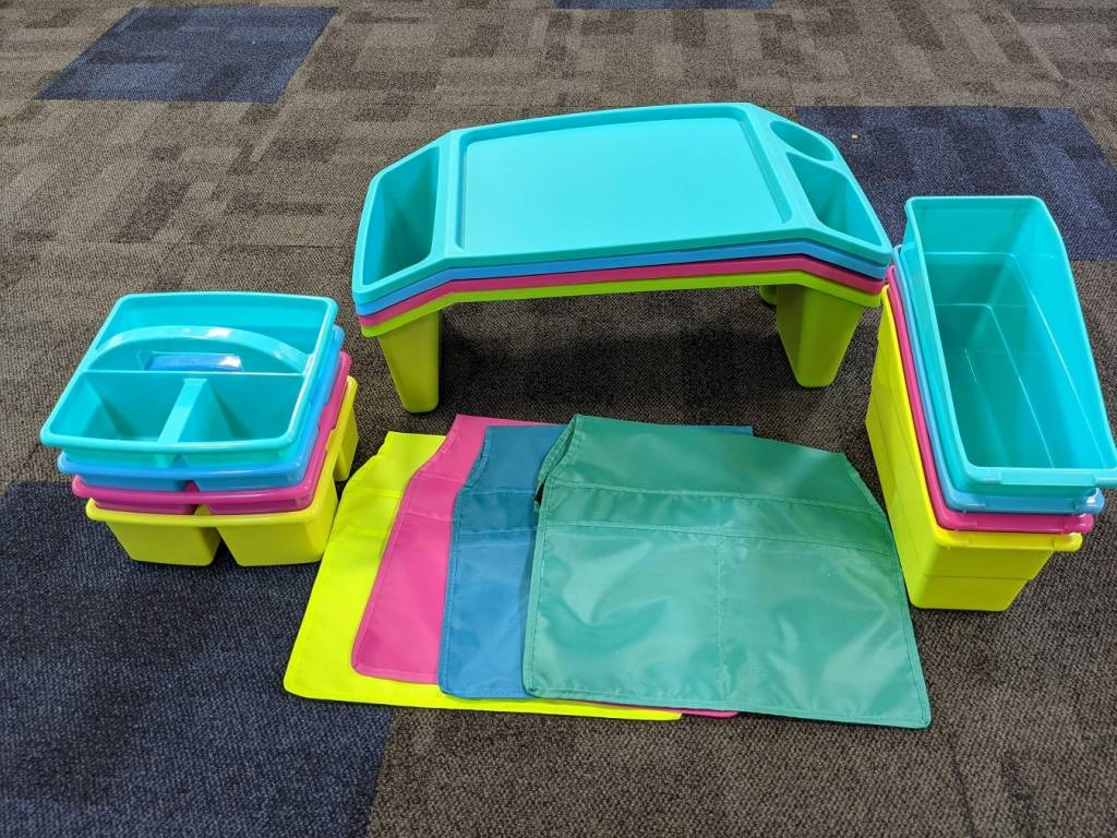 Classroom Caddies Laptrays and Chairbags