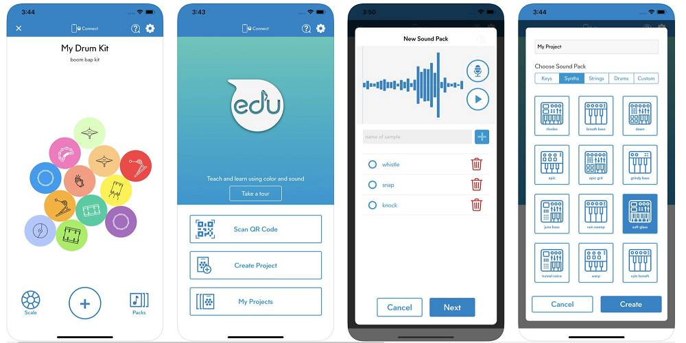 EDU App shown on phone screen