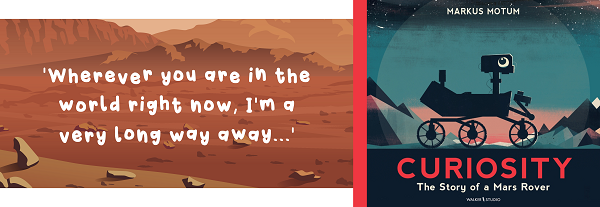 Quote from the story Curiosity and book cover image