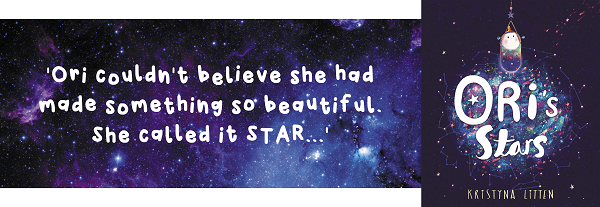 Quote from the story Oris Stars and book cover image