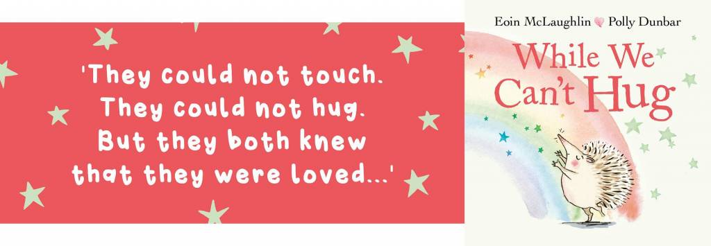 Banner While We Can't Hug Quote Book Blog