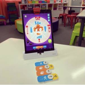OSMO Coding Jam Game and Tablet on desk in classroom