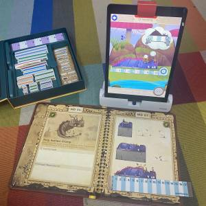 OSMO Math Wizard Measurement game on carpet