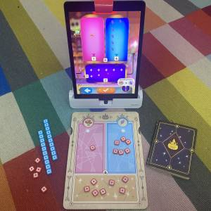 OSMO Math Wizard Place Value game on carpet