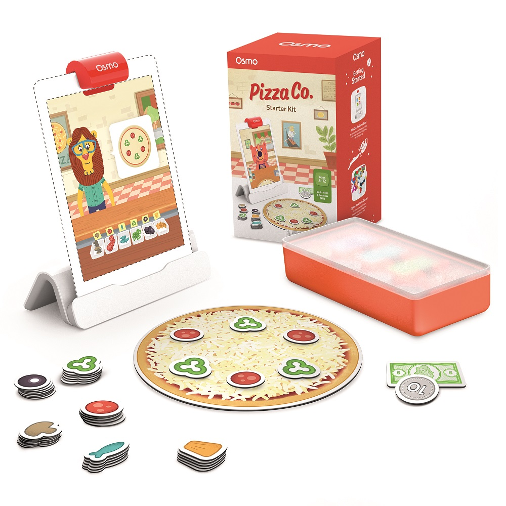 OSMO Pizza Co Game and tablet on white background