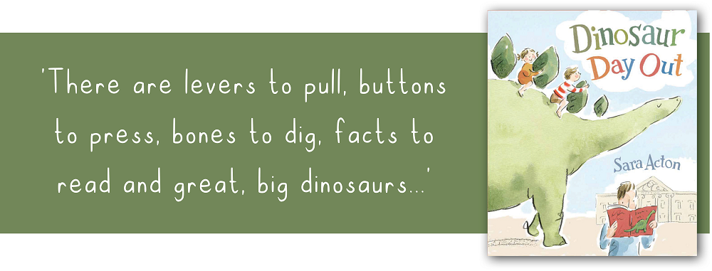 Brighter Times: Dinosaur Day Out Book cover and quote