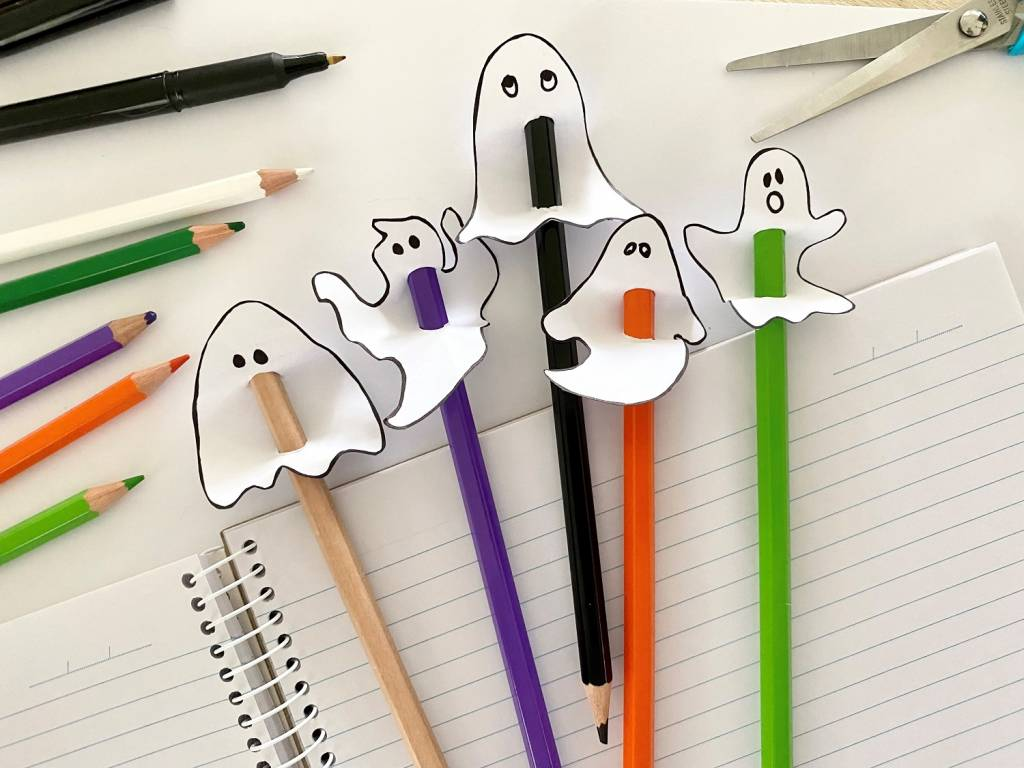 frightful ghosts pencil toppers craft project