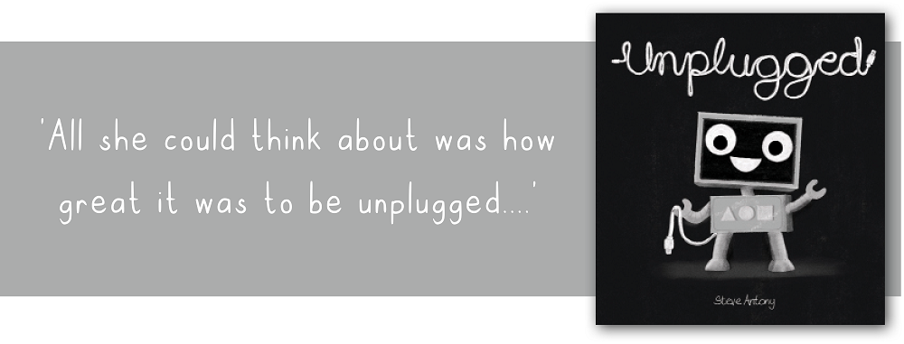 Brighter Times: Unplugged Book cover and quote
